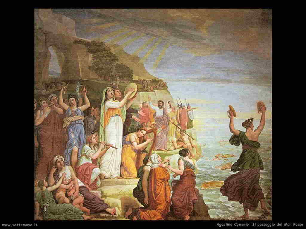 Mosè passaggio del Mar Rosso,  molte altre belle immagini sul sito della storia di Mosè dans immagini sacre mose_007_agostino_comerio_passaggio_mar_rosso