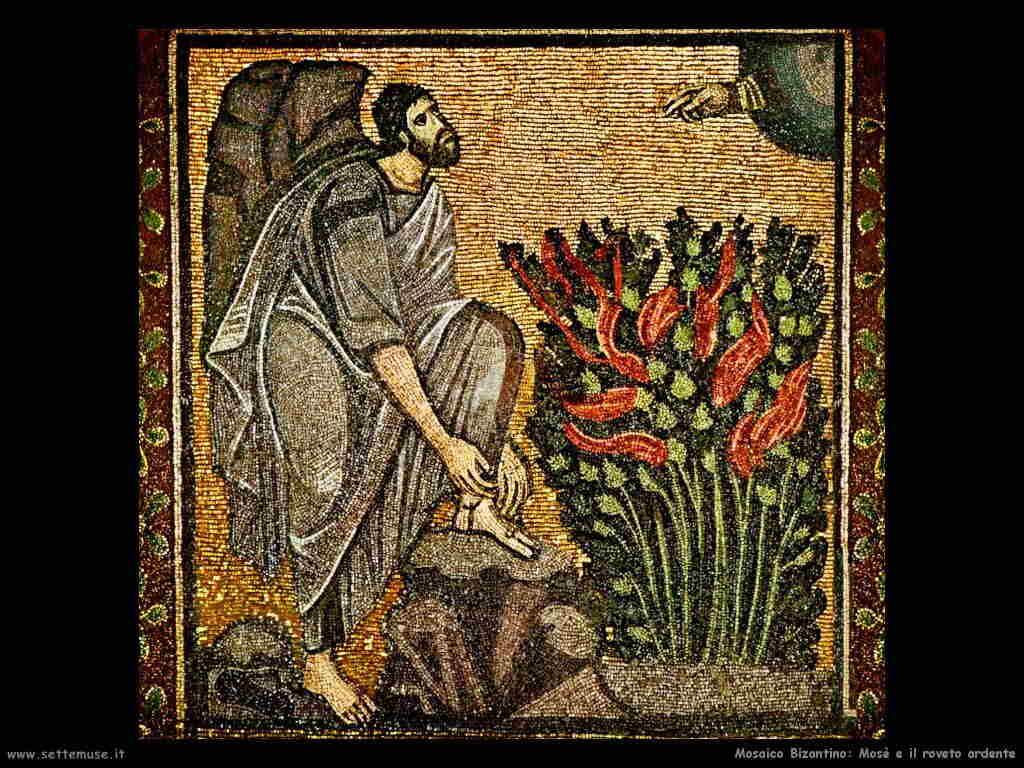 mosaico_bizantino mose_roveto_ardente