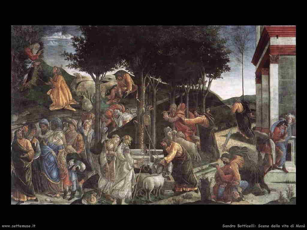 sandro_botticelli scene_vita_di_mose