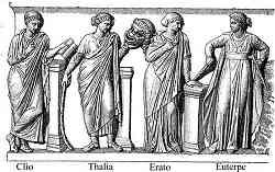 Clio, Talia, Erato, Euterpe