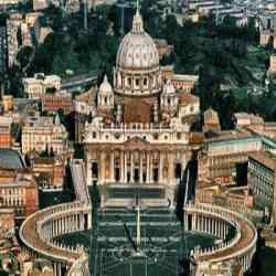 Roma - Panoramica della Basilica di San Pietro