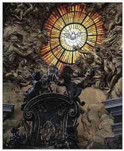 Basilica di San Pietro  - Finestrone dello Spirito Santo