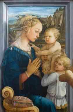 Galleria degli Uffizi - Madonna col Bambino e due angeli