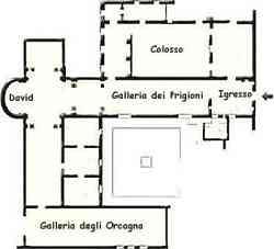 Galleria Accademia Firenze Mappa piano terra