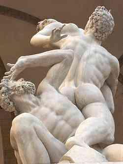 Galleria Accademia Firenze Particolare del Ratto delle Sabine