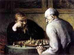 Museo Guggenheim - Daumier giocatori di scacchi