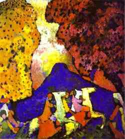 Museo Guggenheim - Kandinskij Montagna Blu 1909
