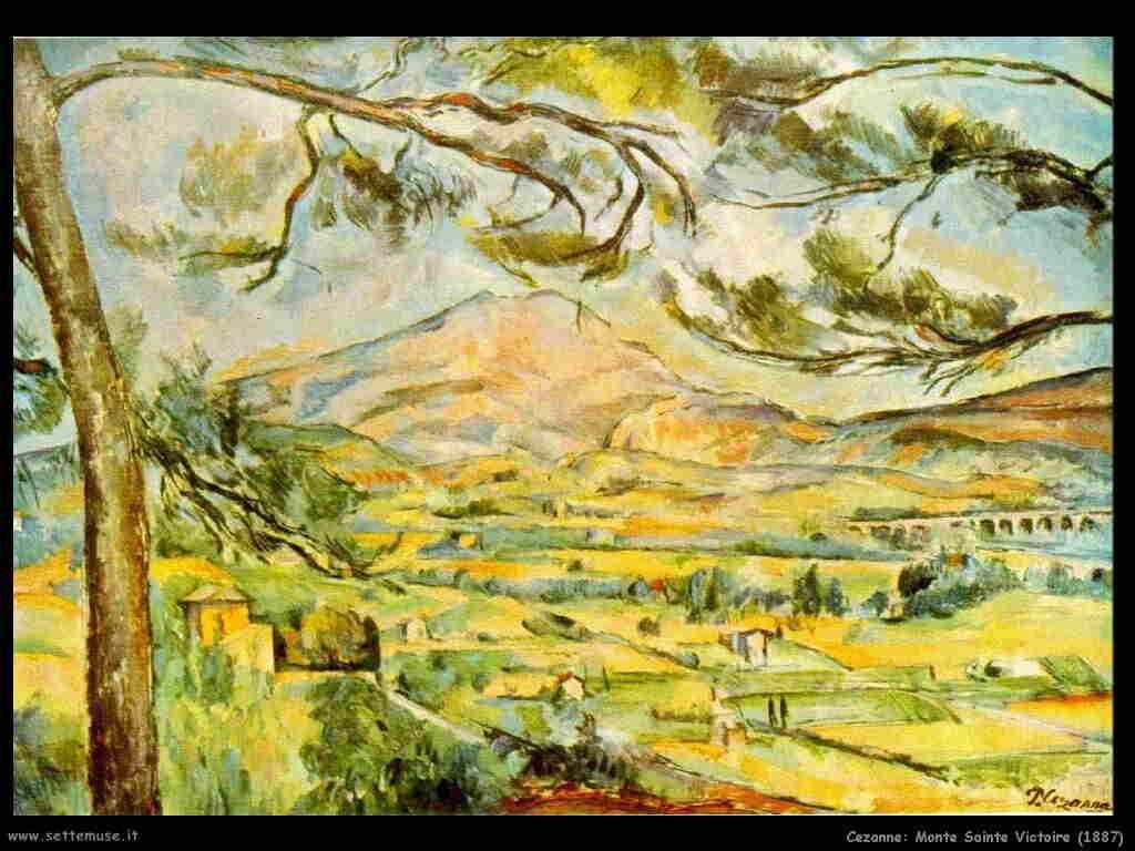 Cezanne Mont Sainte Victoire (1887)