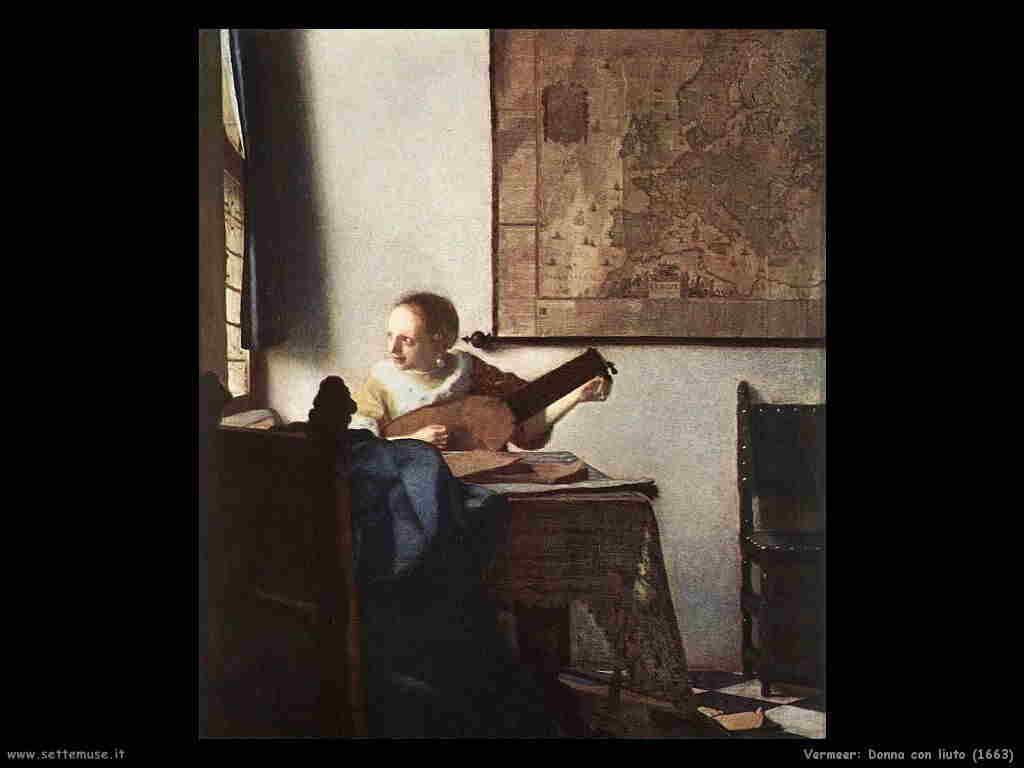 Vermeer Donna con liuto (1663)
