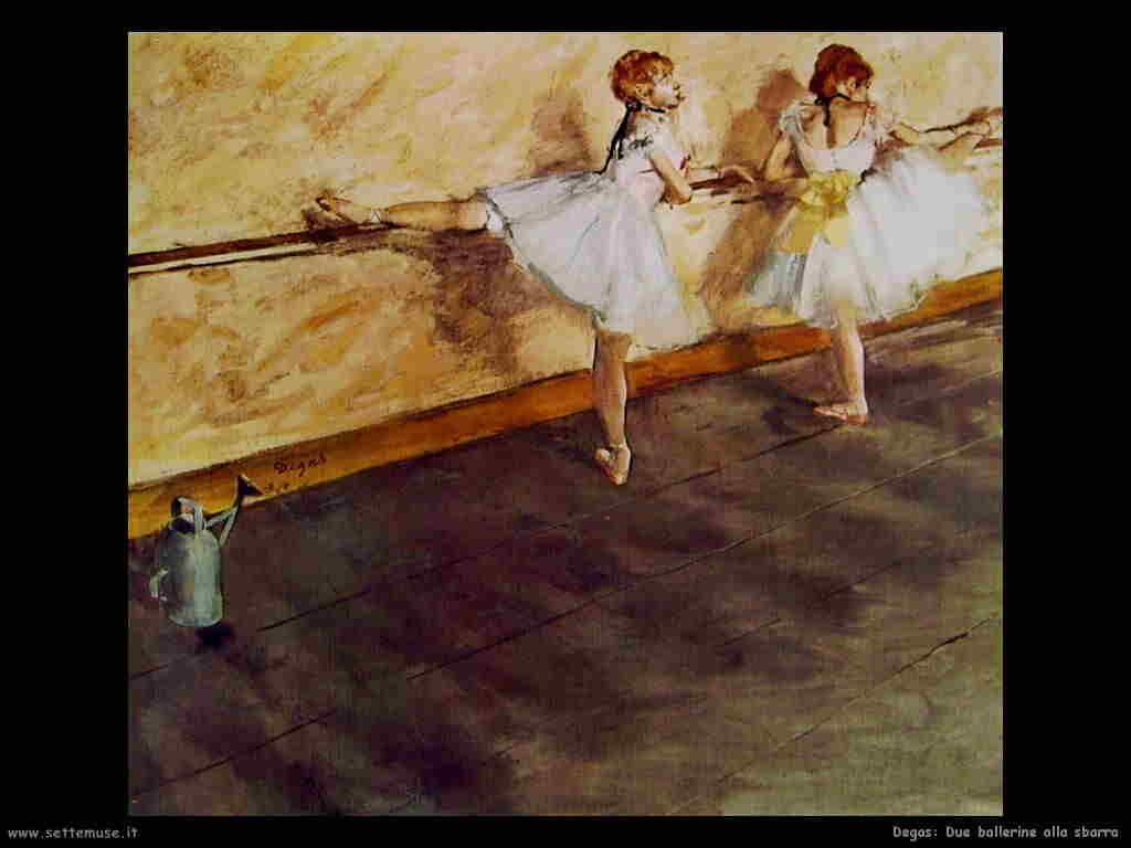 Degas Due ballerine alla sbarra