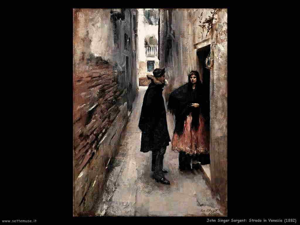 John Singer Sargent Strada in Venezia (1882)