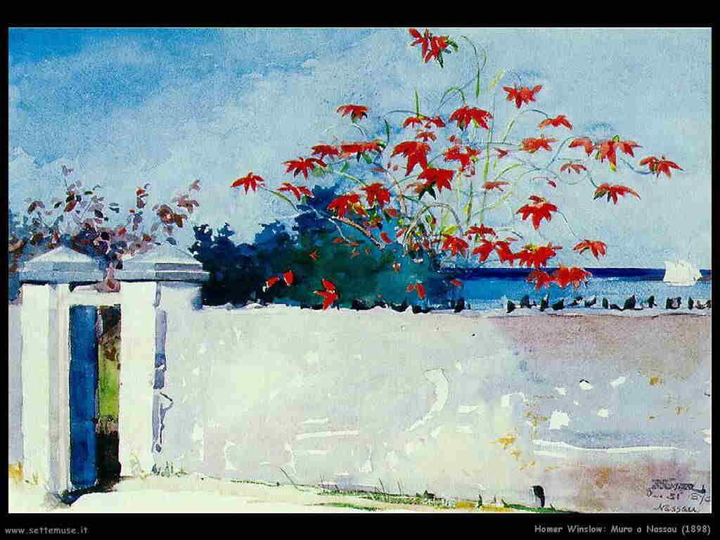Homer Winslow Muro a Nassau (1898)