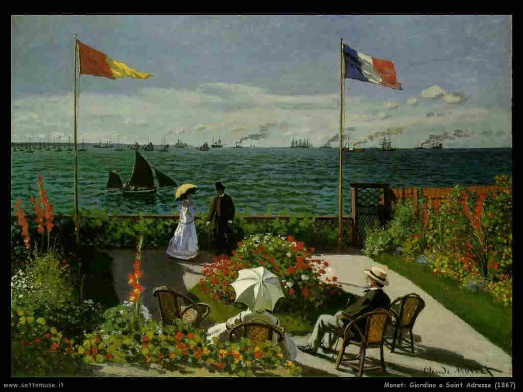 Monet Giardino a Sainte Adresse (1867)