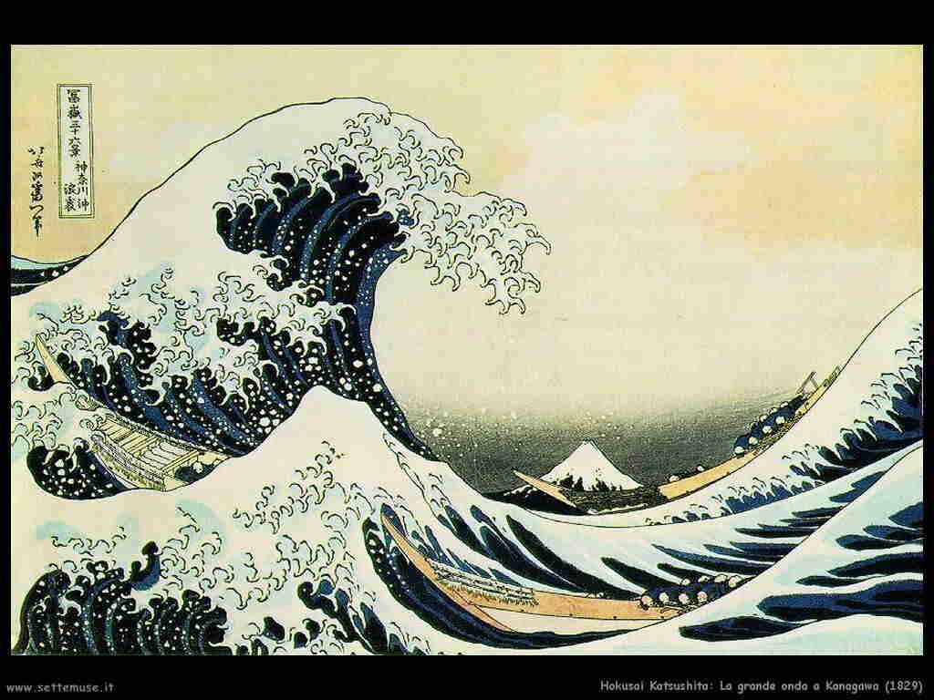 Hokusai Katsushita Grande onda a Kanagawa (1829)