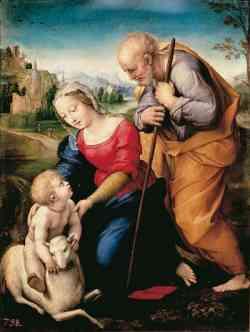 Museo del Prado - Sacra famiglia dell'Agnello - Raffaello