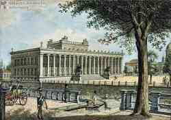 Altes Museum Museo di Berlino in una stampa epoca