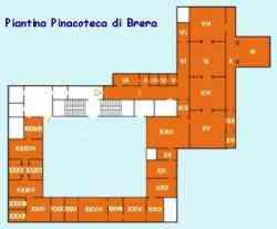 Pinacoteca Brera Milano - Planimetria