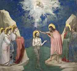 Cappella degli Scrovegni - Battesimo di Cristo