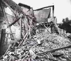 Cenacolo di Leonardo Milano - dopo il bombardamento