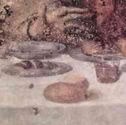 L'Ultima Cena di Leonardo - Particolare della tavola