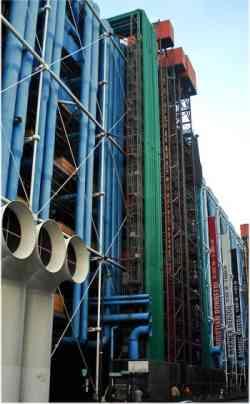 Museo Centre Pompidou  esterno