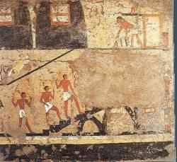 Museo Egizio Torino - Dipinti tomba di Iti