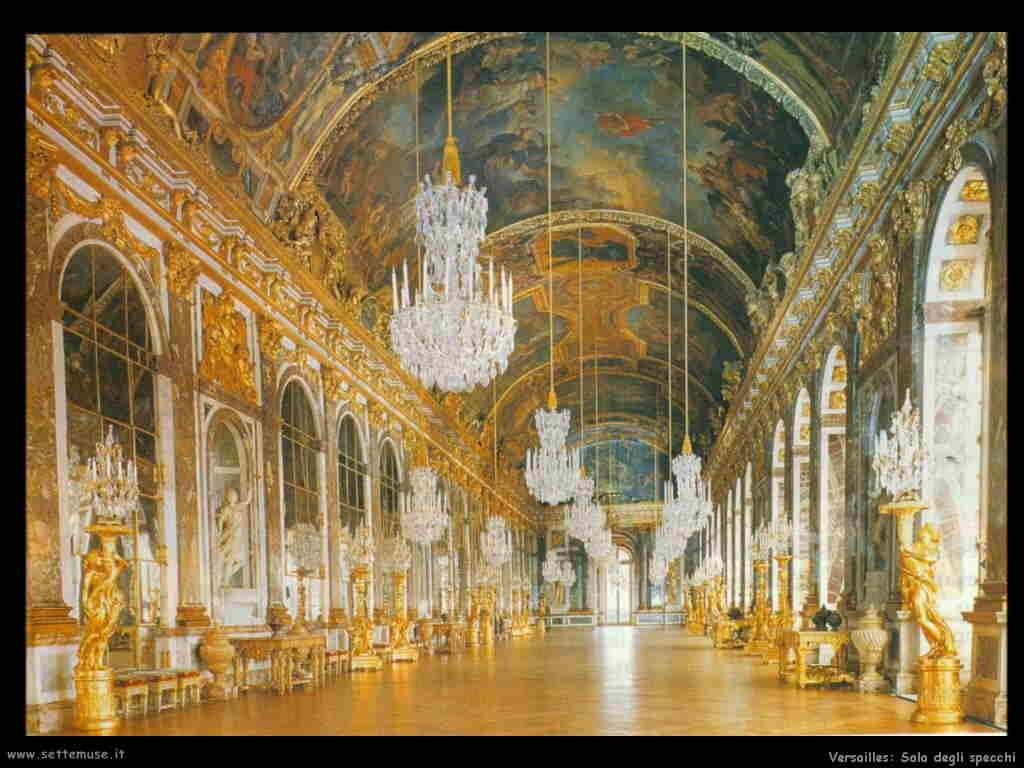 Palazzo di versailles guida e opere d 39 arte - Sala degli specchi ...