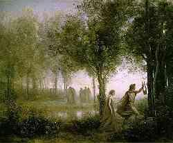 Orfeo e Euridice - Quadro di Corot