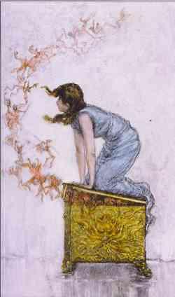 Mito di Pandora - quadro di  F.S. Church.