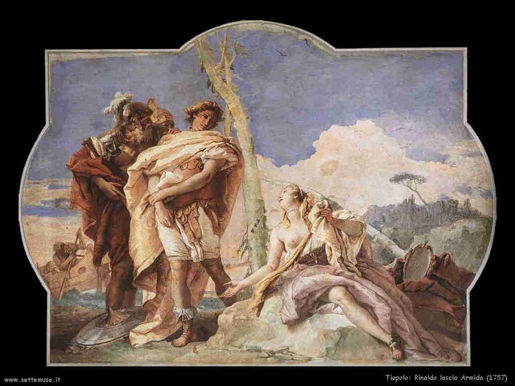 Tiepolo - Rinaldo lascia Armida 1757