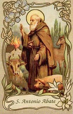 Sant'Antonio Abate in benedizione