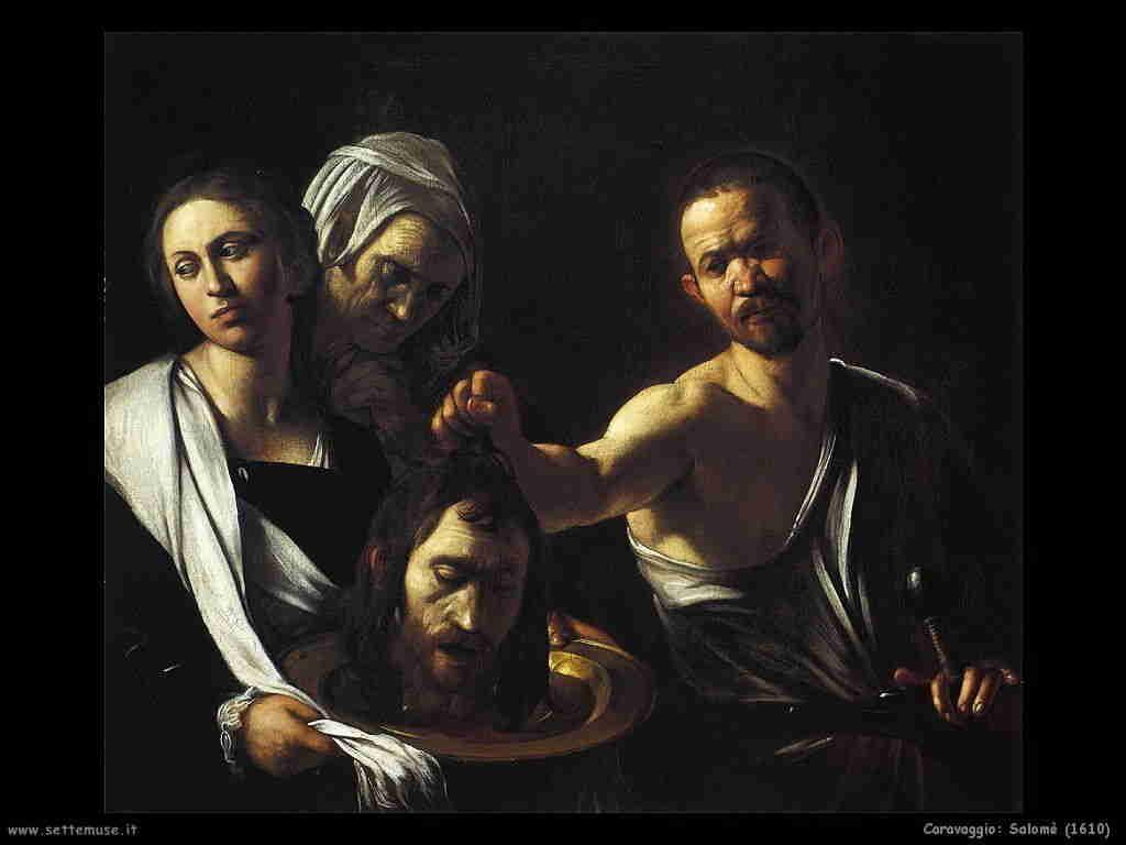 Caravaggio (1610) Salomè con la testa del battista