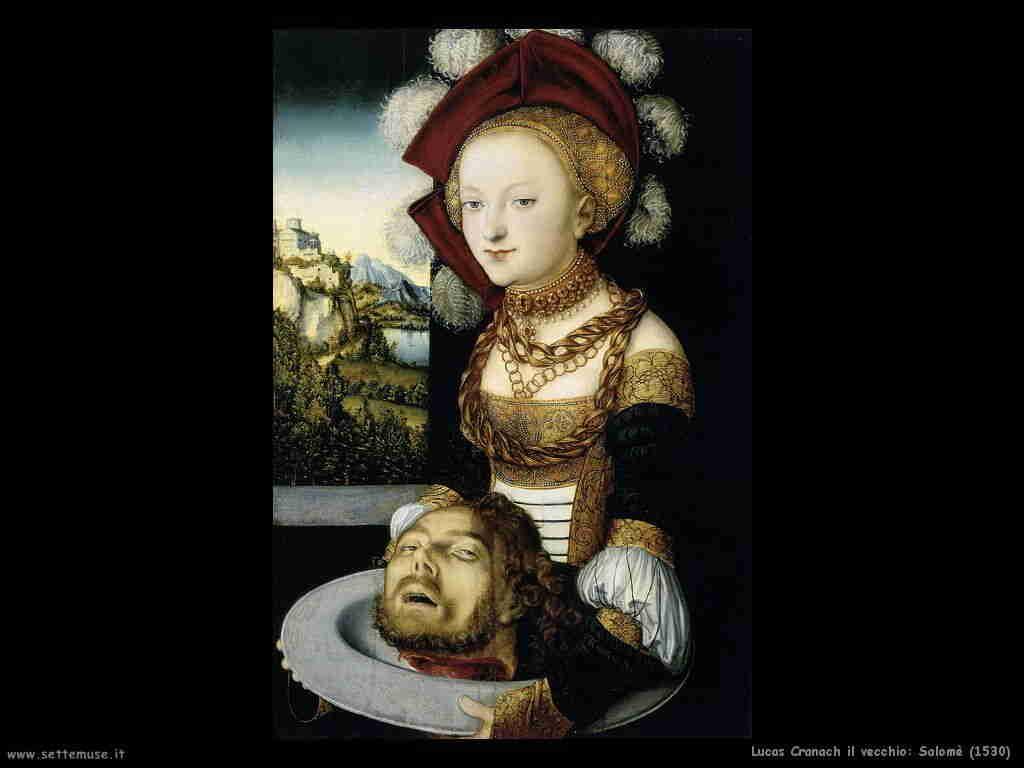 Lucas Cranach vecchio, Salomè con la testa mozzata