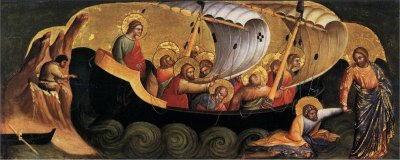 veneziano lorenzo cristo salva san pietro