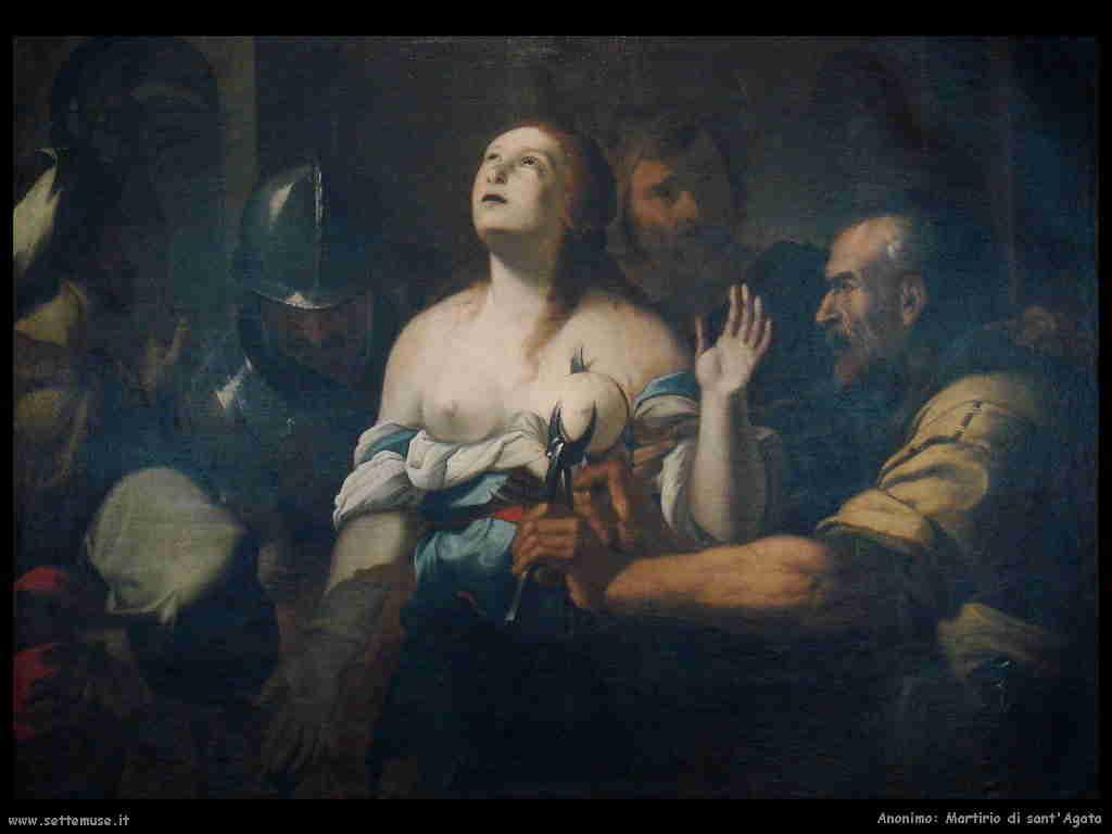 Anonimo, martirio di sant'Agata