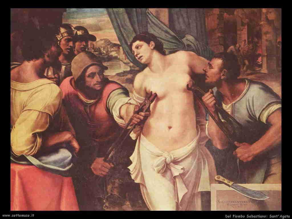 Del Piombo Sebastiano Sant'Agata