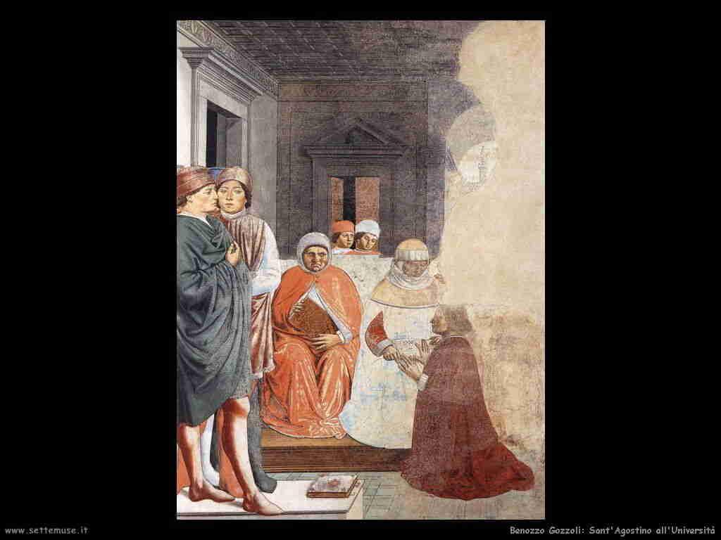 Benozzo Gozzoli: sant'Agostino all'università