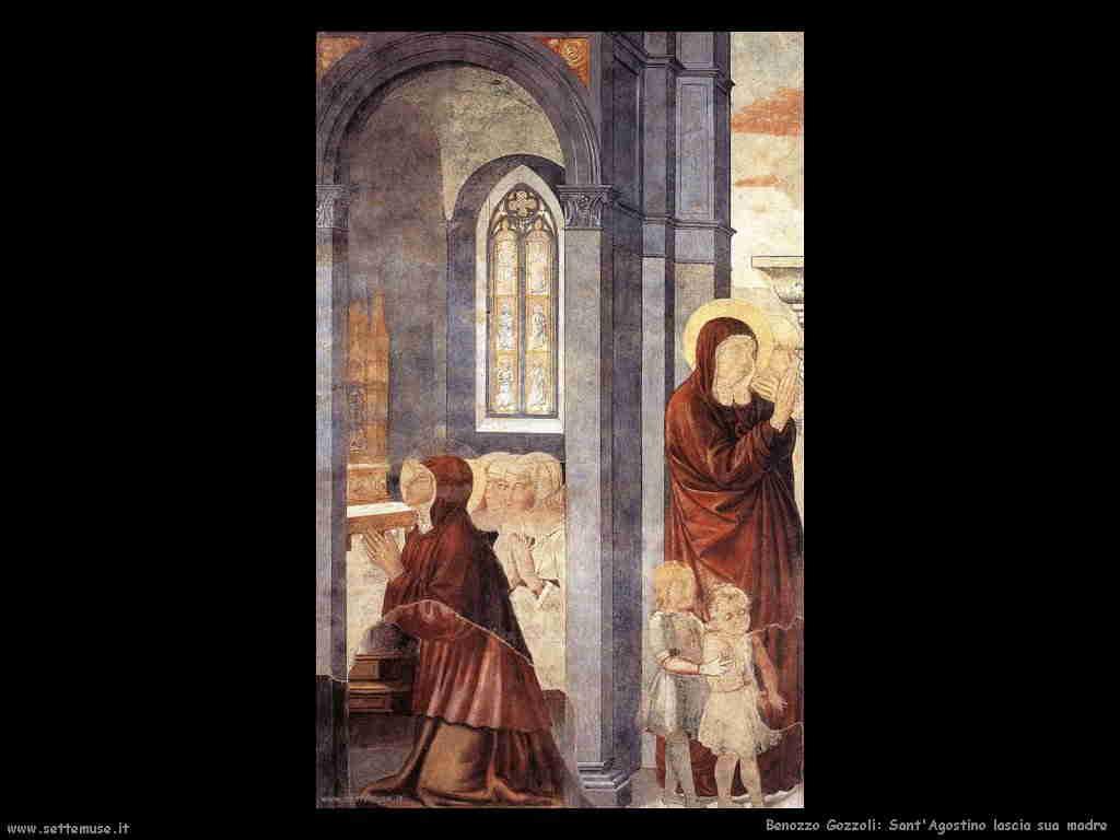 Benozzo Gozzoli: Sant'Agostino lascia la madre