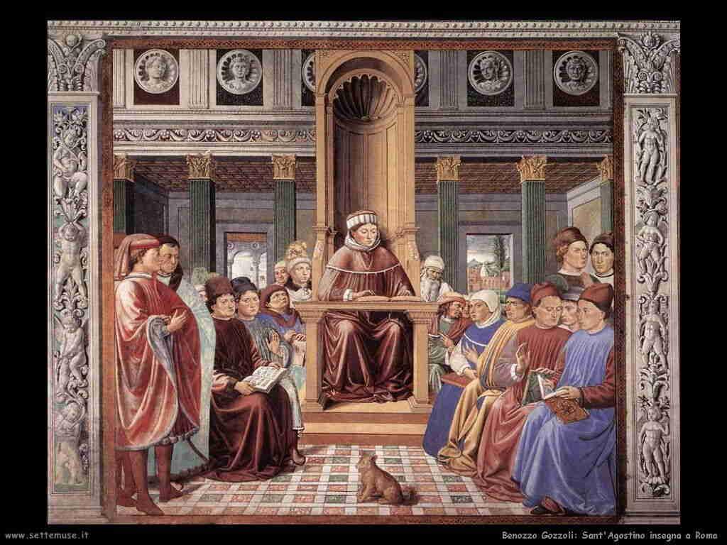 Benozzo Gozzoli: sant'Agostino insegna a Roma