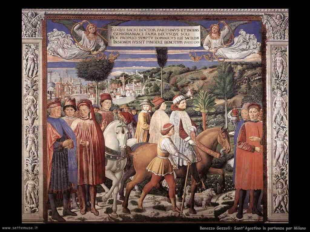 Benozzo Gozzoli: sant'Agostino parte da Milano
