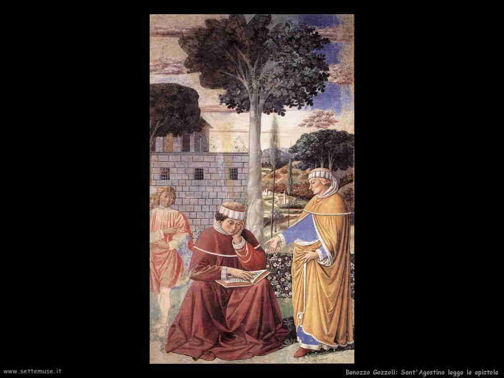 Benozzo Gozzoli: sant'Agostino legge l'epistola