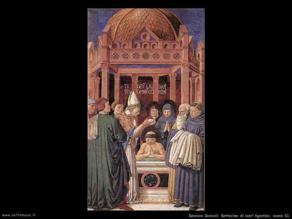 Benozzo Gozzoli: battesimo di sant'Agostino