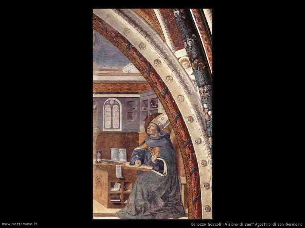Benozzo Gozzoli: visione di san Girolamo