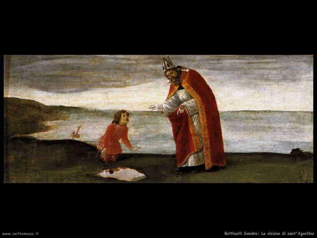 Botticelli Sandro: visione di sant'Agostino