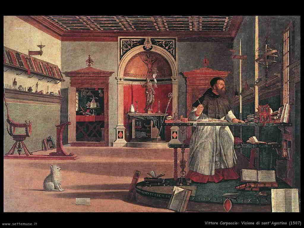 Carpaccio: sant'Agostino nello studio