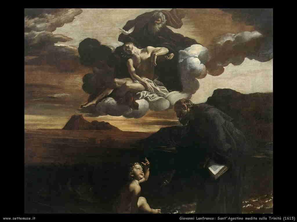Lanfranco Giovanni: sant'Agostino medita sulla trinità (1615)