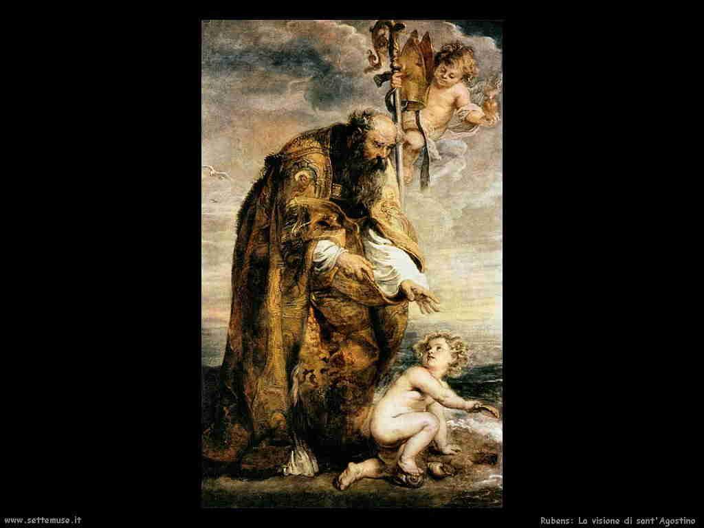 Rubens: sant'Agostino e il bimbo che svuota il mare