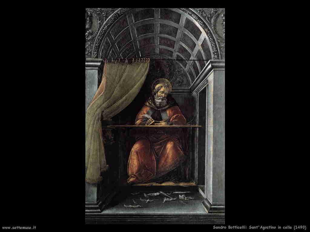 Botticelli Sandro: sant'Agostino in cella