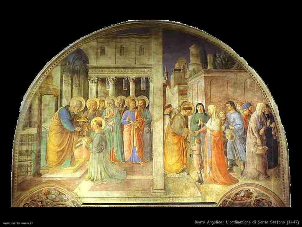 Beato Angelico - Ordinazione di S.Stefano 1447