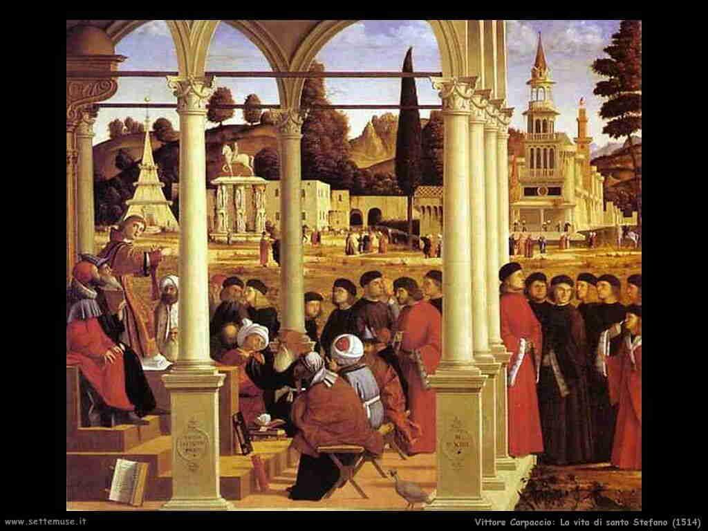 Carpaccio - Vita di Santo Stefano 1514